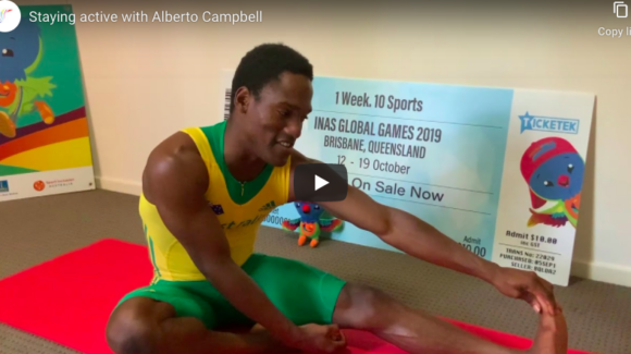 Alberto Campbell sends video message to Virtus athletes